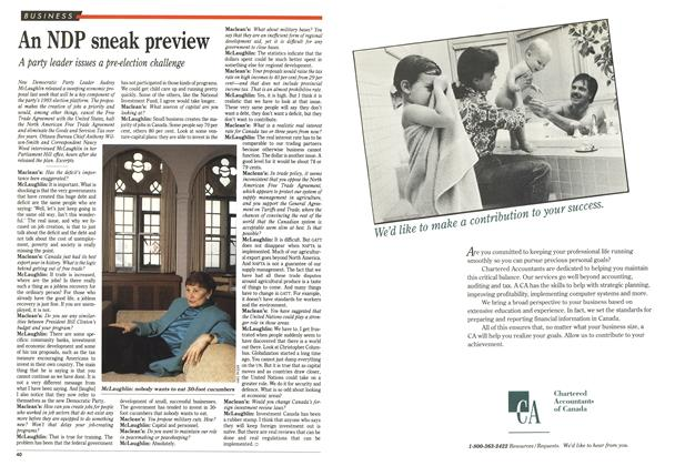 Article Preview: An NDP sneak preview, March 1993   Maclean's
