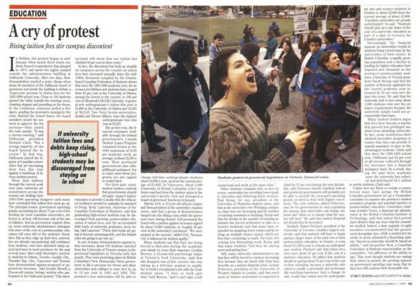Article Preview: A cry of protest, March 1993 | Maclean's