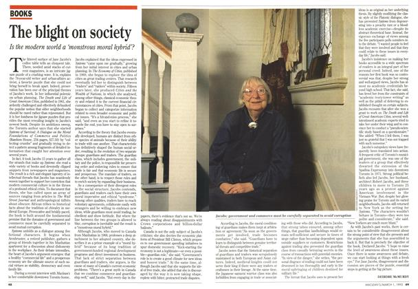 Article Preview: The blight on society, March 1993 | Maclean's