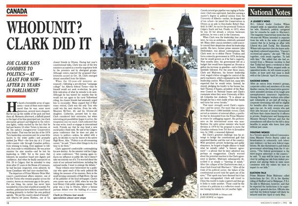 Article Preview: WHODUNIT? CLARK DID IT, March 1993 | Maclean's