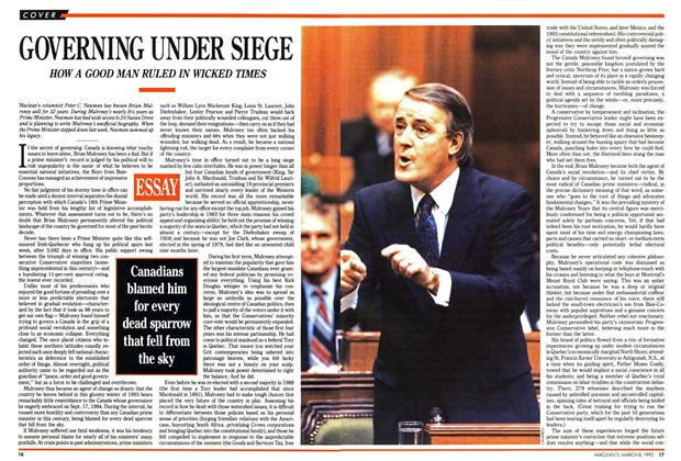 Article Preview: GOVERNING UNDER SIEGE, March 1993 | Maclean's