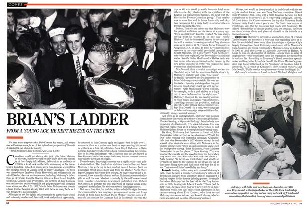 Article Preview: BRIAN'S LADDER, March 1993 | Maclean's