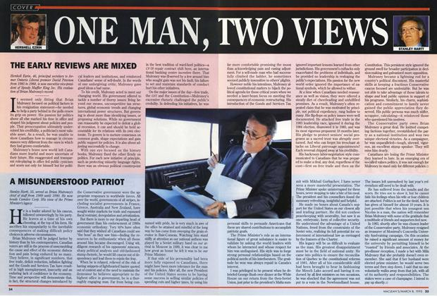Article Preview: ONE MAN, TWO VIEWS, March 1993 | Maclean's