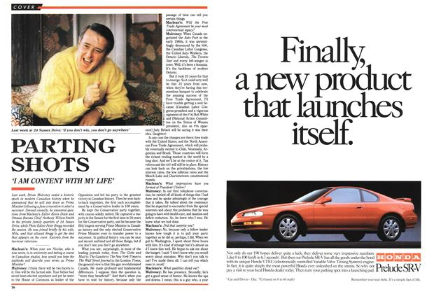Article Preview: PARTING SHOTS, March 1993 | Maclean's