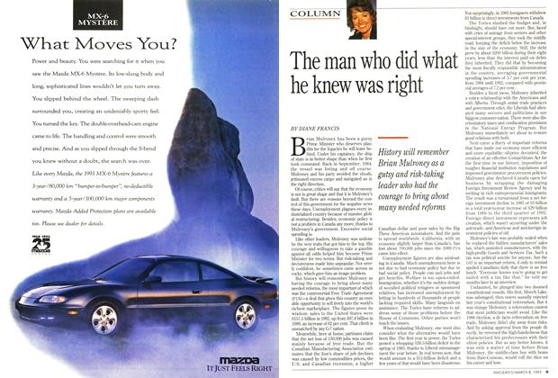 Article Preview: The man who did what he knew was right, March 1993 | Maclean's