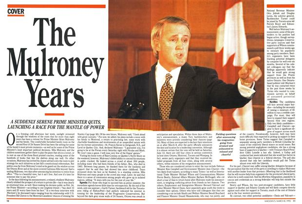 Article Preview: The Mulroney Years, March 1993 | Maclean's