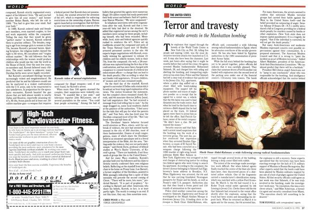 Article Preview: Terror and travesty, March 1993 | Maclean's