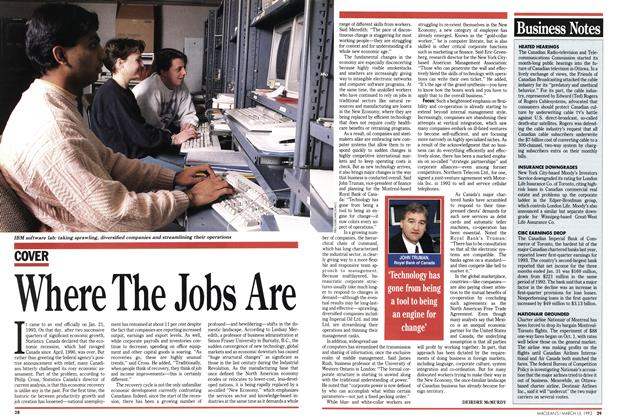Article Preview: Where The Jobs Are, March 1993 | Maclean's