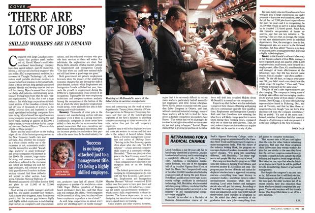 Article Preview: 'THERE ARE LOTS OF JOBS', March 1993 | Maclean's
