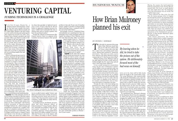 Article Preview: VENTURING CAPITAL, March 1993 | Maclean's