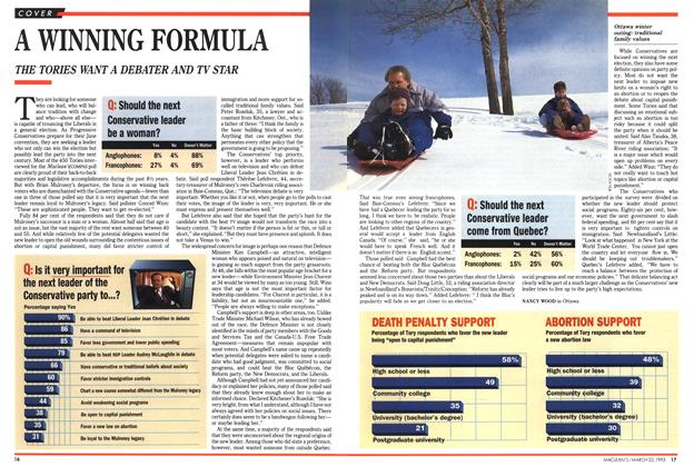 Article Preview: A WINNING FORMULA, March 1993 | Maclean's