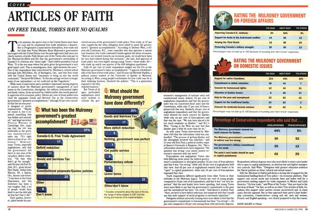 Article Preview: ARTICLES OF FAITH, March 1993 | Maclean's