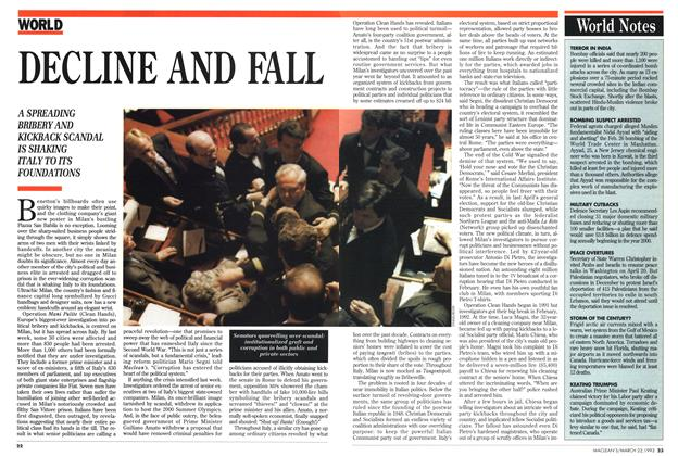 Article Preview: DECLINE AND FALL, March 1993 | Maclean's