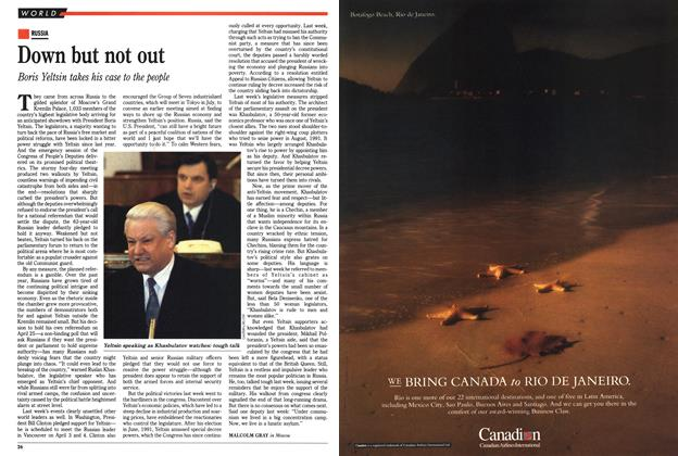 Article Preview: Down but not out, March 1993 | Maclean's