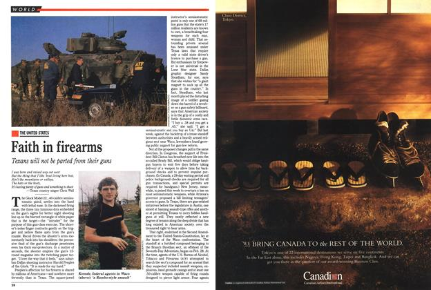 Article Preview: Faith in firearms, March 1993 | Maclean's