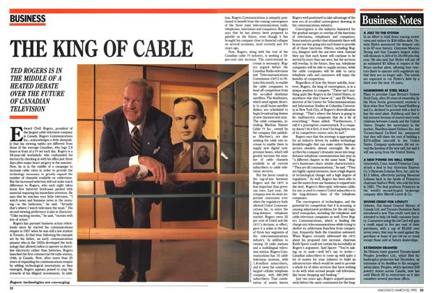 Article Preview: THE KING OF CABLE, March 1993 | Maclean's