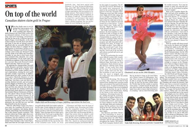 Article Preview: On top of the world, March 1993 | Maclean's