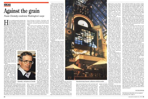 Article Preview: Against the grain, March 1993 | Maclean's