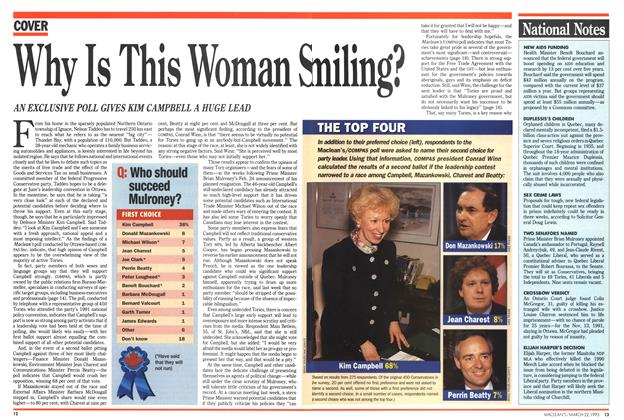 Article Preview: Why Is This Woman Smiling, March 1993 | Maclean's