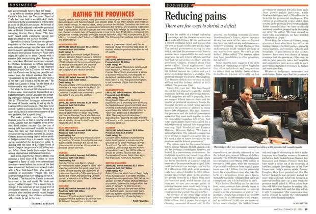 Article Preview: RATING THE PROVINCES, March 1993 | Maclean's
