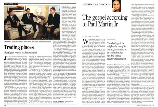Article Preview: The gospel according to Paul Martin Jr., March 1993 | Maclean's