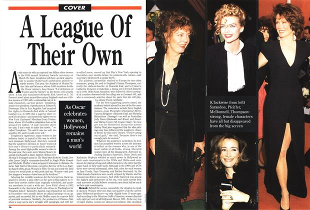 Article Preview: A League Of Their Own, March 1993 | Maclean's