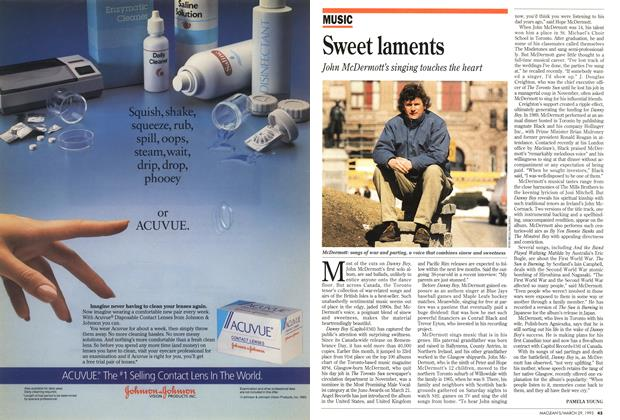 Article Preview: Sweet laments, March 1993 | Maclean's