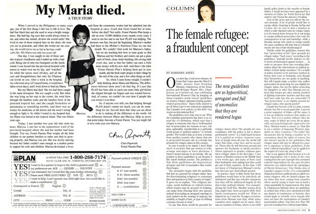 Article Preview: The female refugee: a fraudulent concept, March 1993 | Maclean's