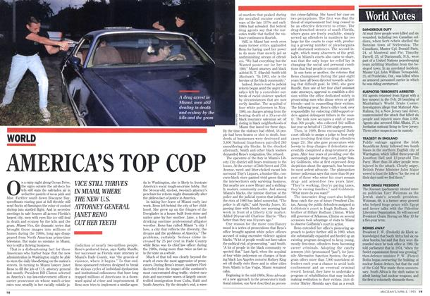 Article Preview: AMERICA'S TOP COP, April 1993 | Maclean's