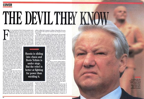 Article Preview: THE DEVIL THEY KNOW, April 1993 | Maclean's
