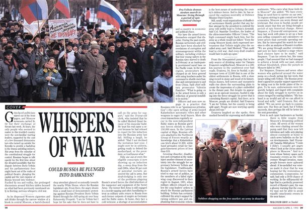 Article Preview: WHISPERS OF WAR, April 1993 | Maclean's