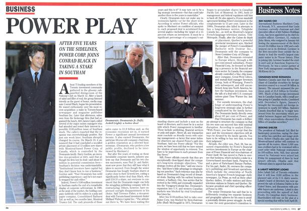 Article Preview: POWER PLAY, April 1993 | Maclean's