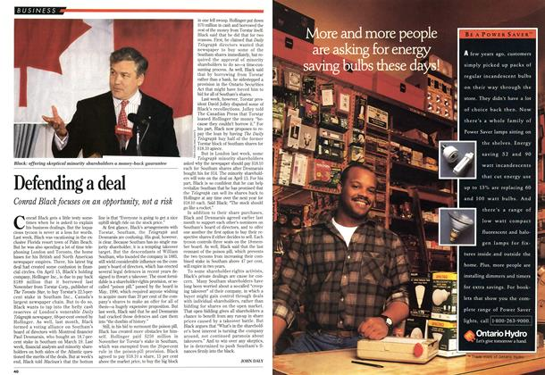 Article Preview: Defending a deal, April 1993 | Maclean's