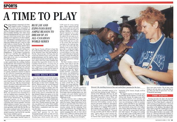 Article Preview: A TIME TO PLAY, April 1993 | Maclean's