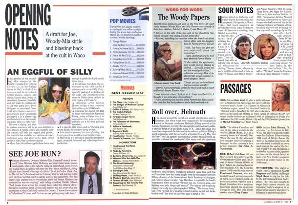Article Preview: OPENING NOTES, April 1993 | Maclean's