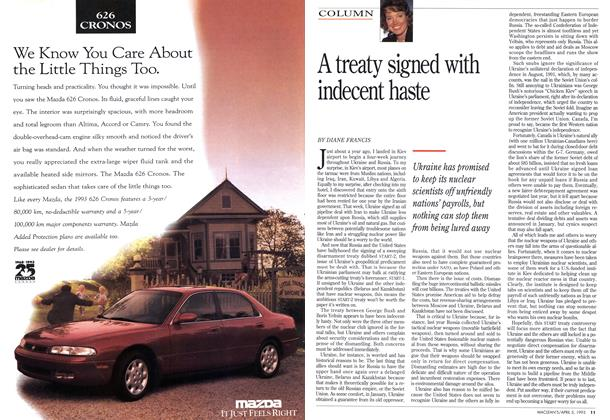 Article Preview: A treaty signed with indecent haste, April 1993 | Maclean's