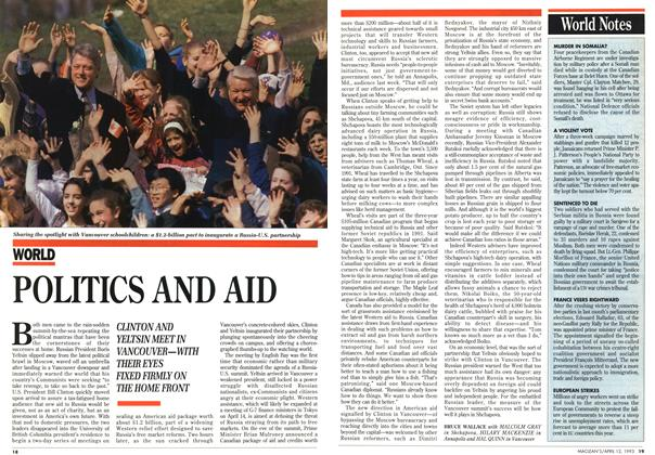 Article Preview: POLITICS AND AID, April 1993 | Maclean's