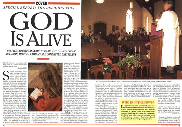 Article Preview: GOD Is ALIVE, April 1993 | Maclean's