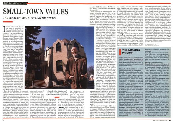 Article Preview: SMALL TOWN VALUES, April 1993 | Maclean's