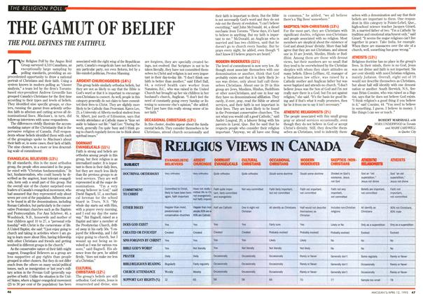 Article Preview: THE GAMUT OF BELIEF, April 1993 | Maclean's