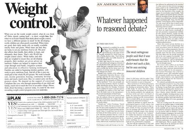 Article Preview: Whatever happened to reasoned debate?, April 1993 | Maclean's