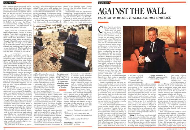 Article Preview: AGAINST THE WALL, April 1993 | Maclean's
