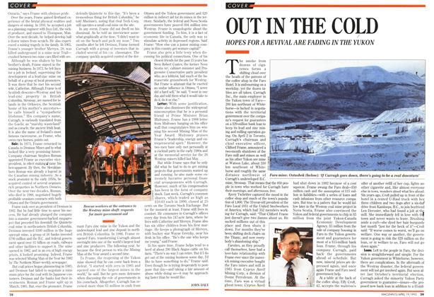 Article Preview: OUT IN THE COLD, April 1993 | Maclean's