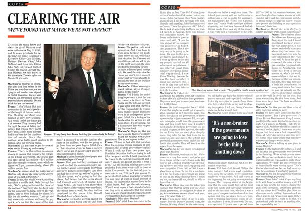 Article Preview: CLEARING THE AIR, April 1993 | Maclean's