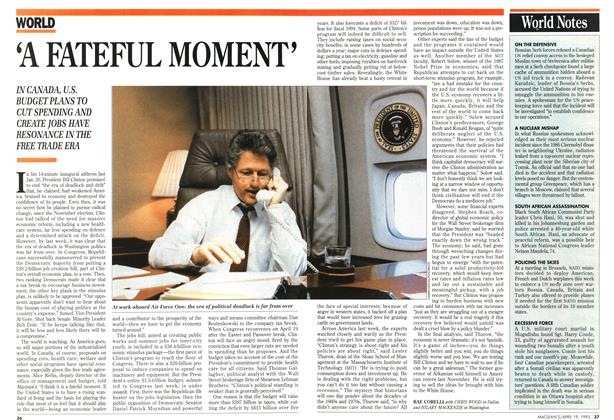 Article Preview: 'A FATEFUL MOMENT', April 1993 | Maclean's