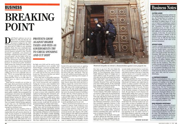 Article Preview: BREAKING POINT, April 1993   Maclean's