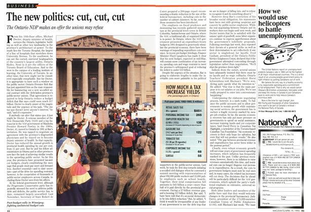 Article Preview: The new politics: cut, cut, cut, April 1993   Maclean's