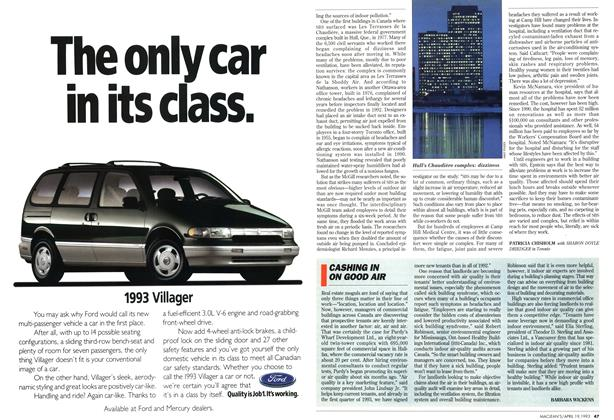 Article Preview: CASHING IN ON GOOD AIR, April 1993 | Maclean's