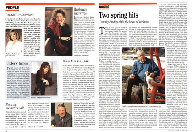 Article Preview: Two spring hits, April 1993 | Maclean's