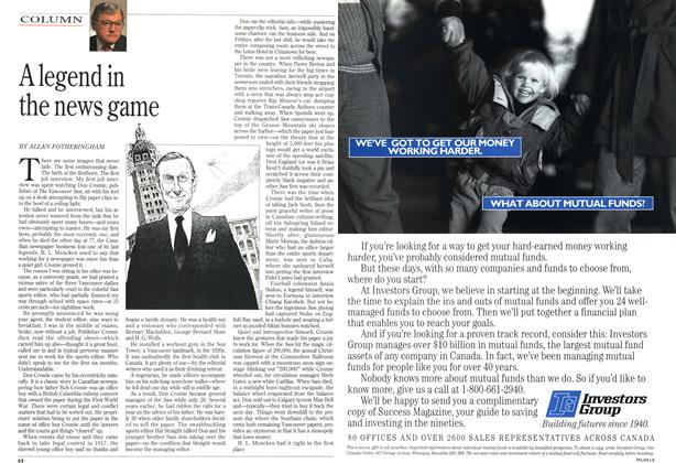 Article Preview: A legend in the news game, April 1993 | Maclean's